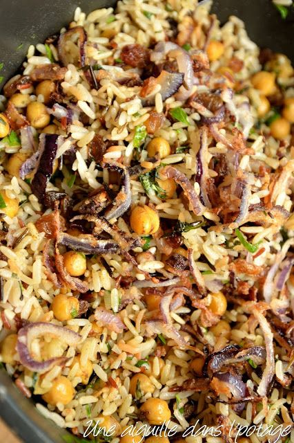 Photo of Rice with chickpeas, spices and raisins, according to Yotam Ottolenghi