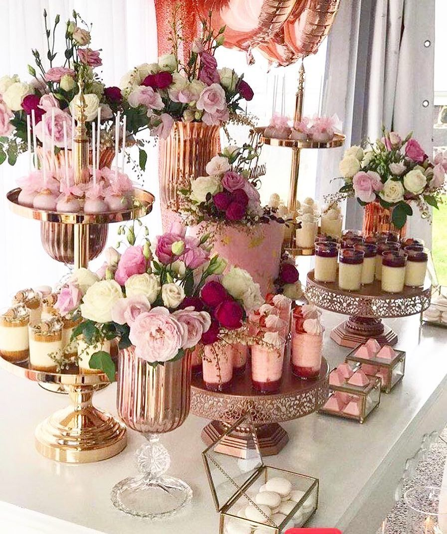 Elegant Wedding Cake Dessert Table Inspiration: Dessert Tables #trending . . . . . . #desserttable