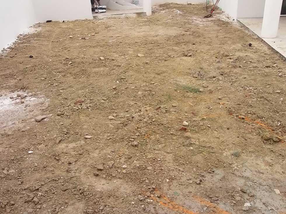 Base du réseau enterrée.