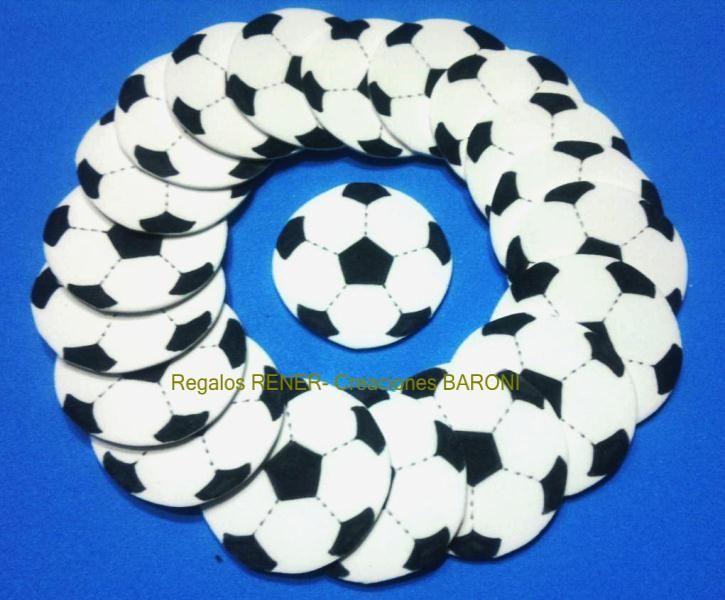 Pelotas de football en goma eva formas y figuras en goma - Formas goma eva ...
