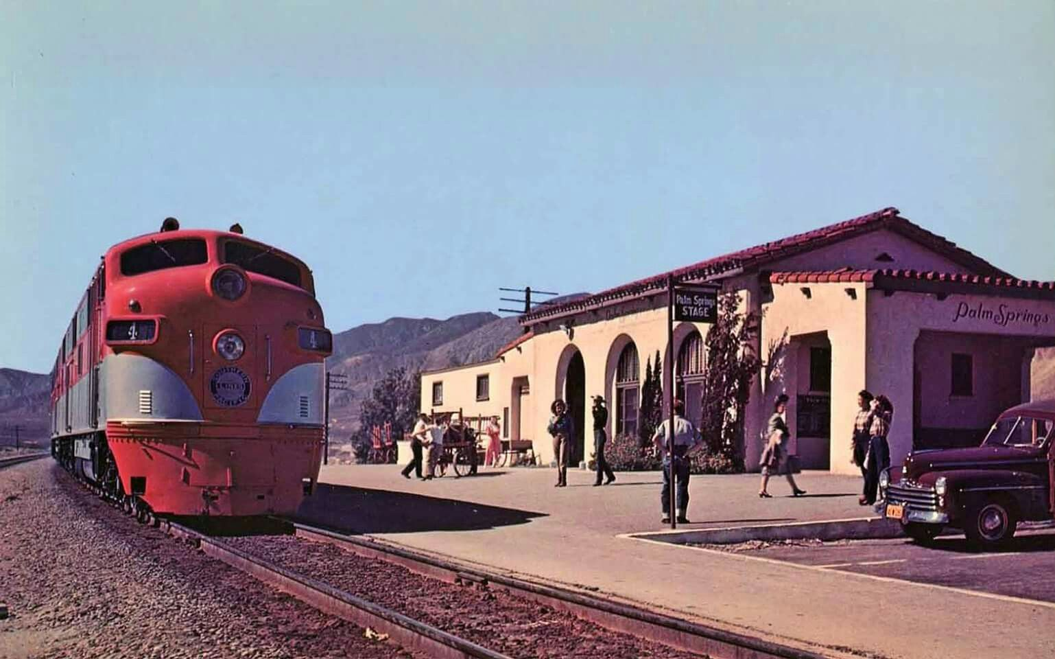 A southern pacific publicity photo featuring the eastbound