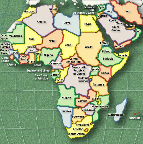 Africa & Asia Political Map Africa | Africa map, Africa, Ancient world maps