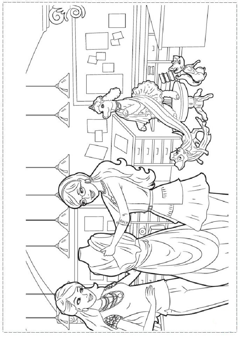 Barbie Fashion Coloring Page Coloring Pages Barbie Coloring Pages Princess Coloring Pages
