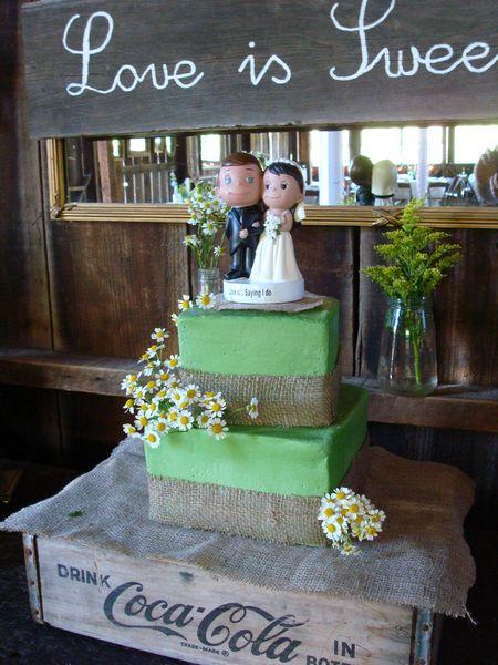 2-tier Rustic Wedding Cake by Windy City Cakery