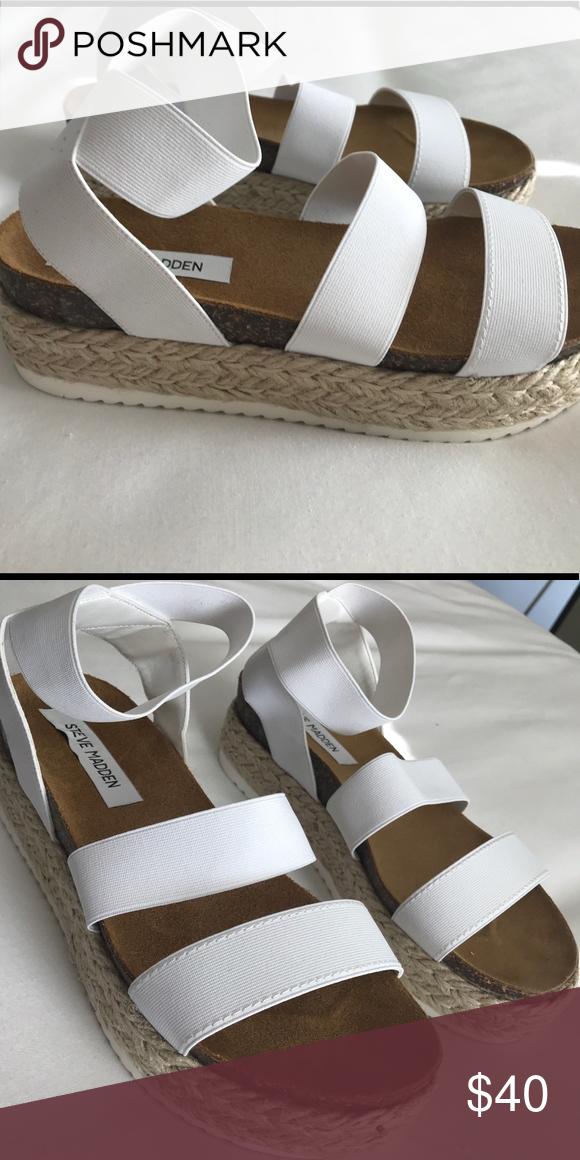 05d76af0f86 Steve Madden Kimmie Flatform Espadrille Sandals Never been worn ...