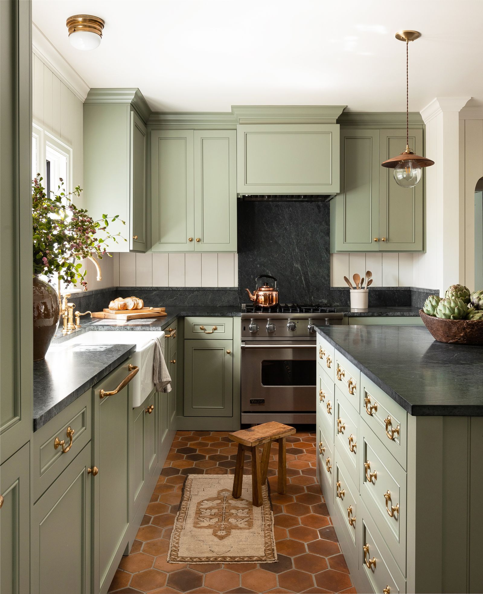 11 Green Kitchen Cabinet Paint Colors We Swear By Green Kitchen Cabinets Painted Kitchen Cabinets Colors Teal Kitchen