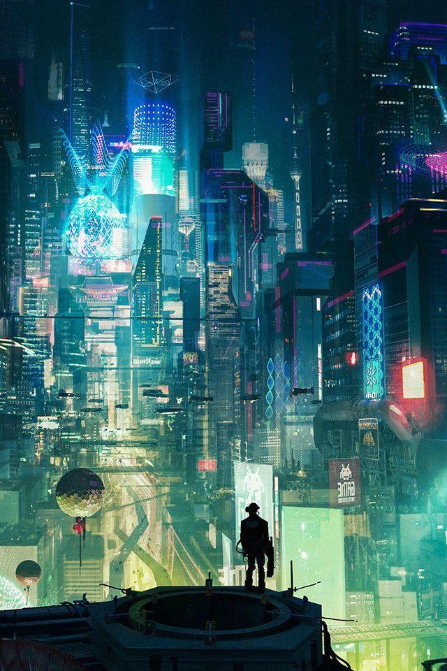 Cyberpunk City Rt Wallpaper [640 x 960 Cyberpunk city