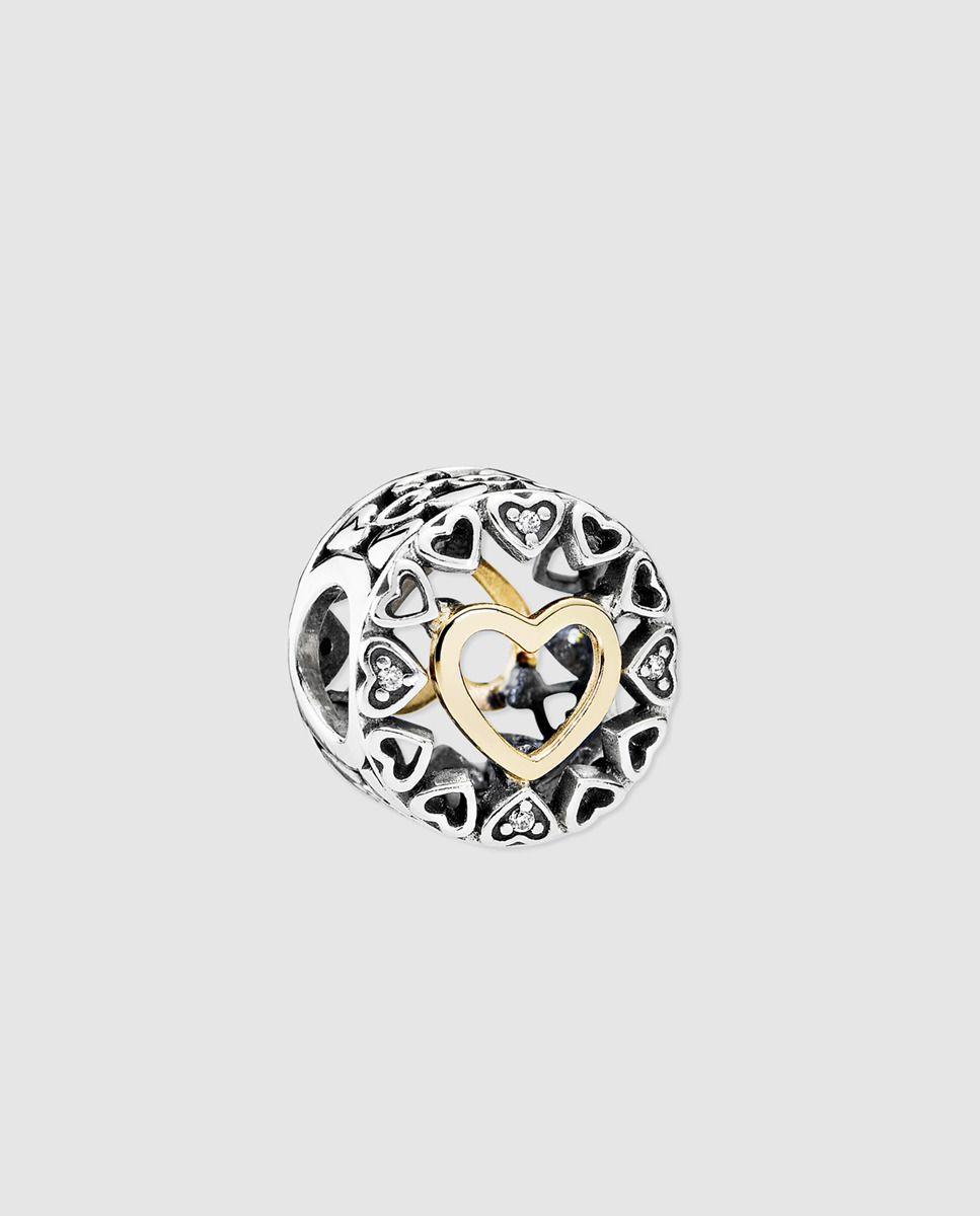 ce85c5eec358 Charm corazón en plata y circonita Pandora | *Joyas* | Pandora ...