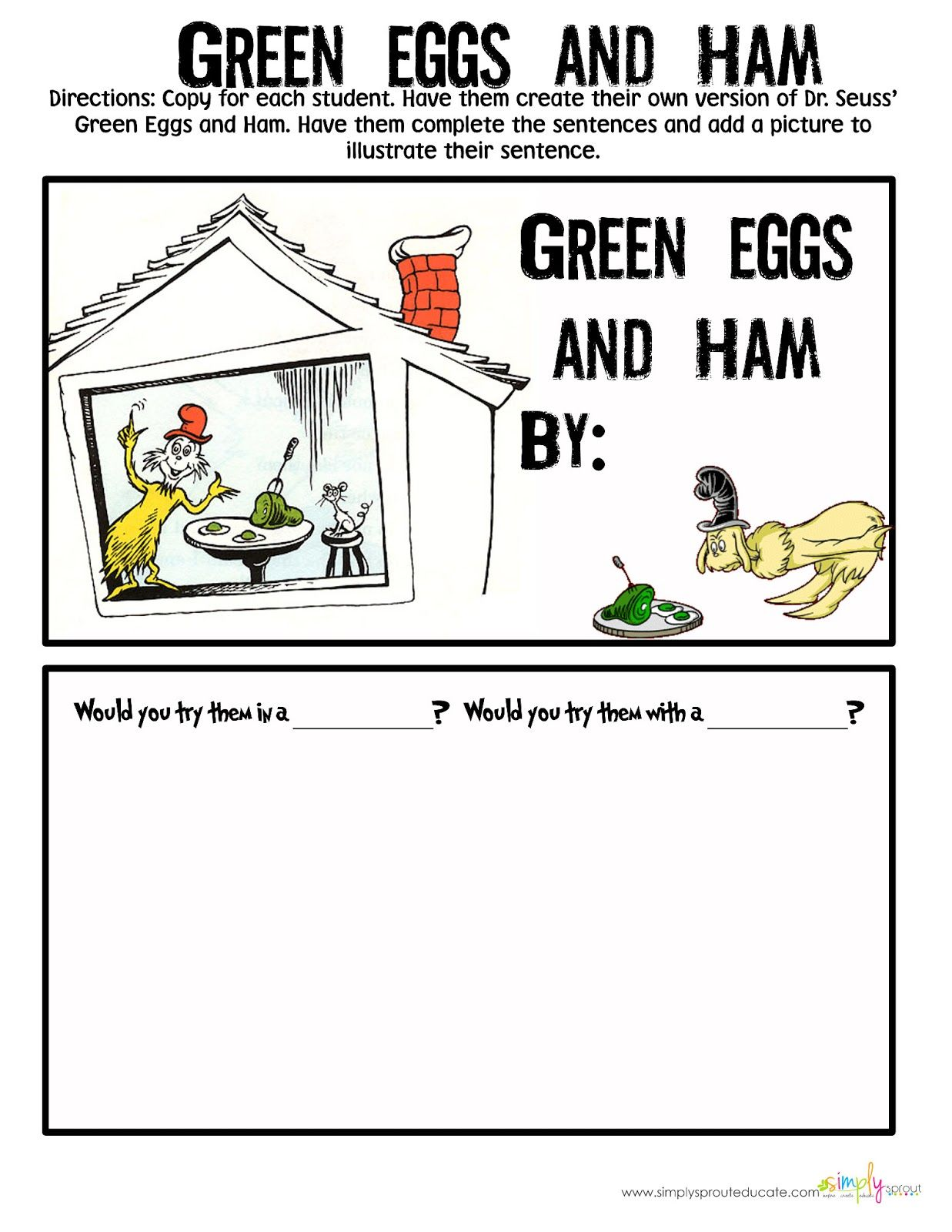 worksheet Green Eggs And Ham Worksheet well we saved the best for last who doesnt love green eggs and ham seuss activities classroom read across america
