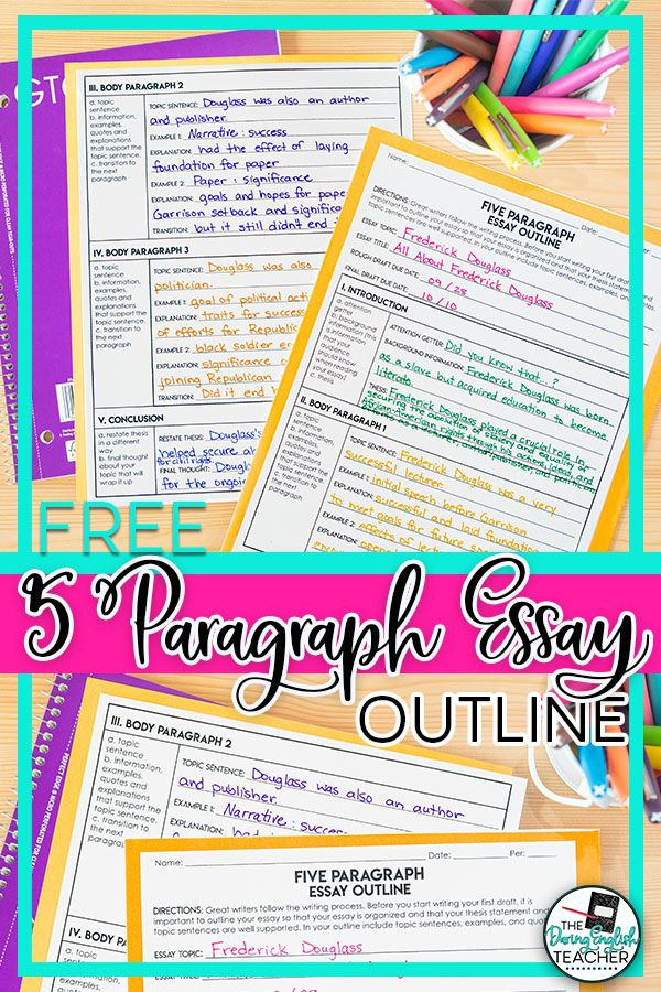 Free Five Paragraph Essay Outline Essay Outline Essay Writing Help Essay Outline Template