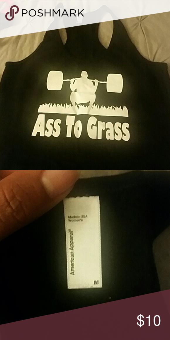 Workout tank Ass to grass women tank top... worn once American Apparel Tops