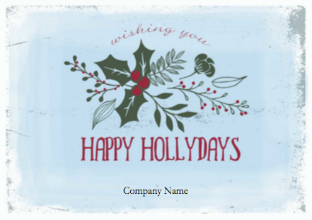 holiday card sizes