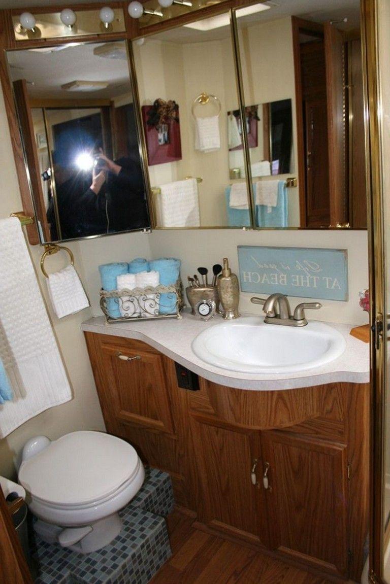 45 Exciting Rv Bathroom Makeover Design Ideas Bathrooms Remodel