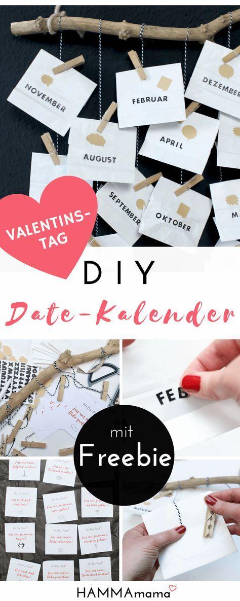 diy zum valentinstag mit freebie date kalender selber machen ein pers nliches geschenk. Black Bedroom Furniture Sets. Home Design Ideas