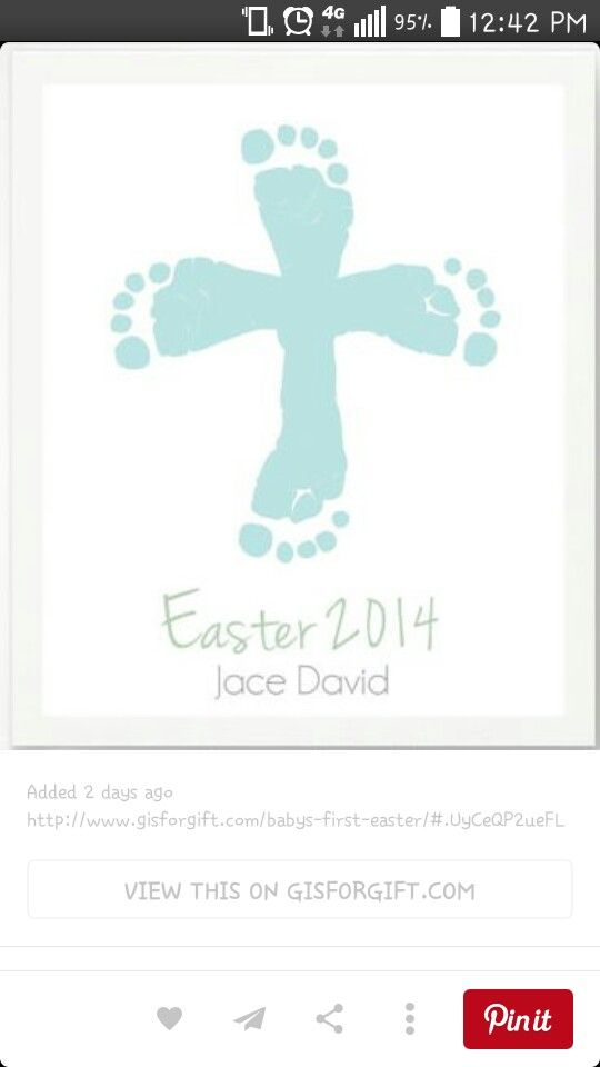 Pin by destiney cross on school pinterest easter craft and make your gifts special make your life special first easter gifts for the baby personalized easter cross with blue baby footprint art print by negle Image collections