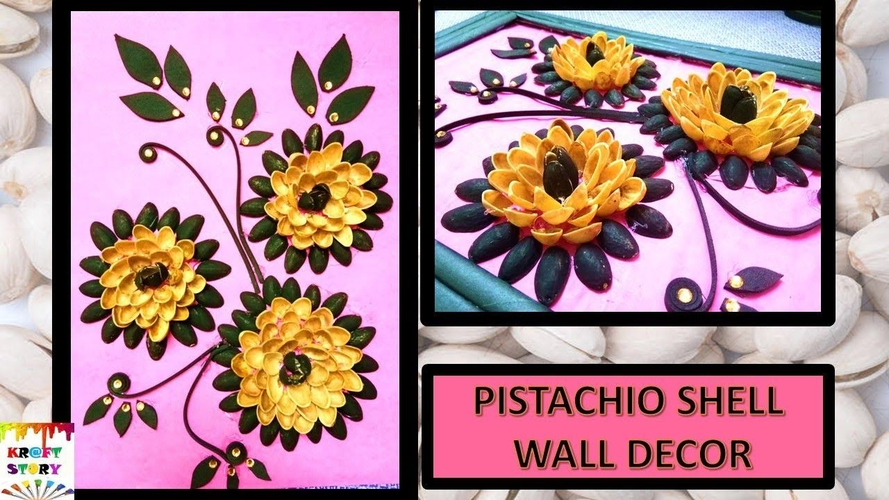 Waste Reuse Idea Diy Wall Decor Frame Pista Shell Craft Best Out