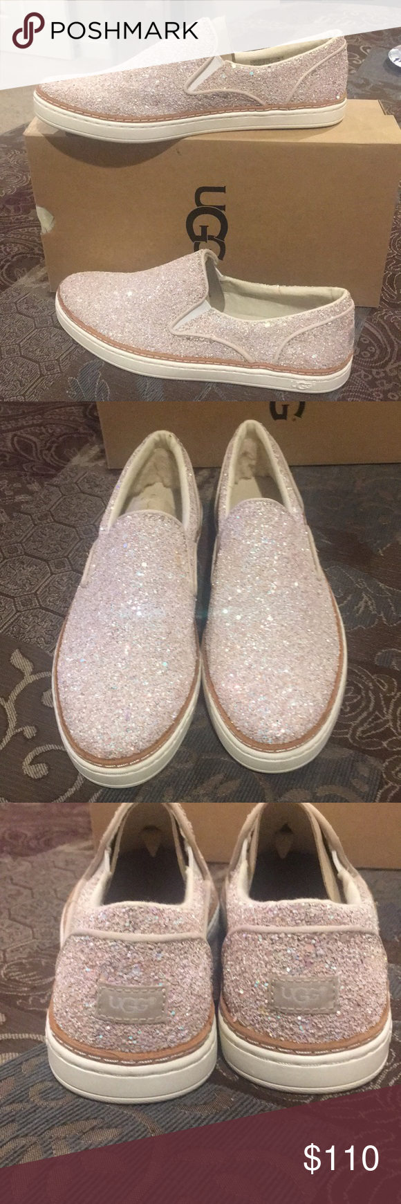 e4af9e96c83 UGG Adley Chunky Glitter Slip-On Sneakers $ FIRM AUTHENTIC UGG Adley ...