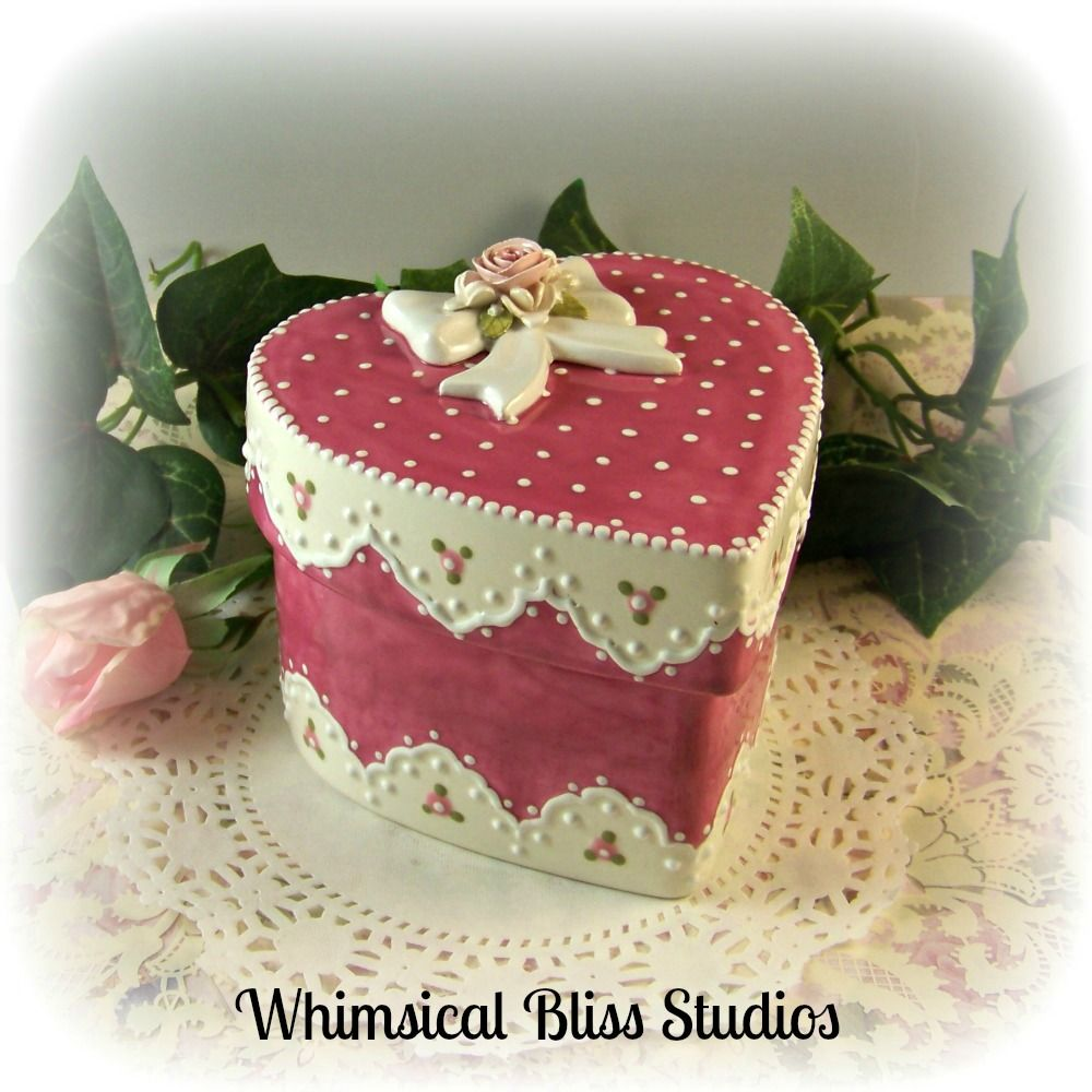 Whimsical Bliss Studios - Deep Pink Heart Box