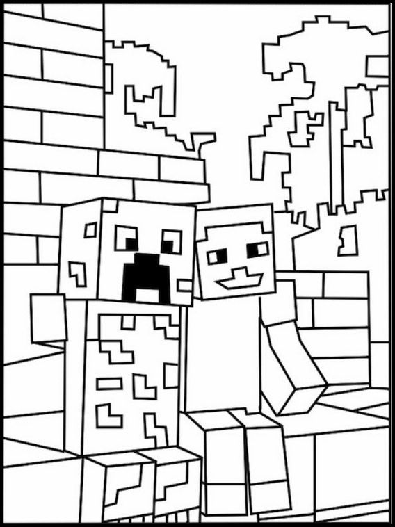 Disegni da colorare per bambini da stampare minecraft 9 for Disegni da colorare minecraft
