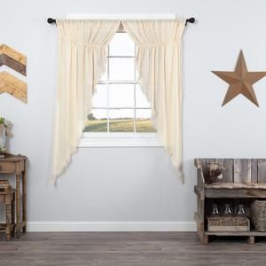 Burlap Natural Prairie Curtains 63 #curtainfringe