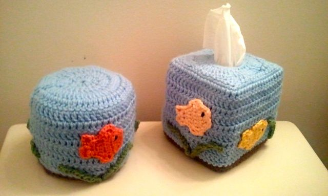 matching fish bowl tissue toppers
