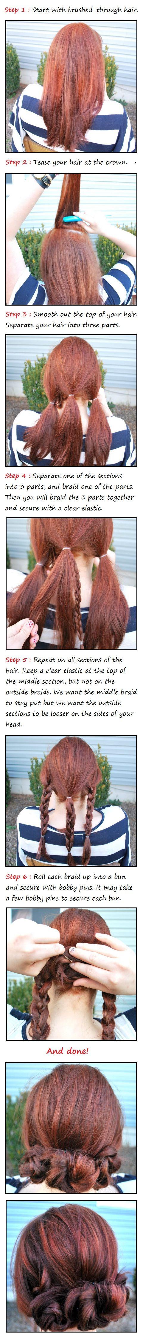 Easy and cute hair pinterest bun hair tutorials bun hair and
