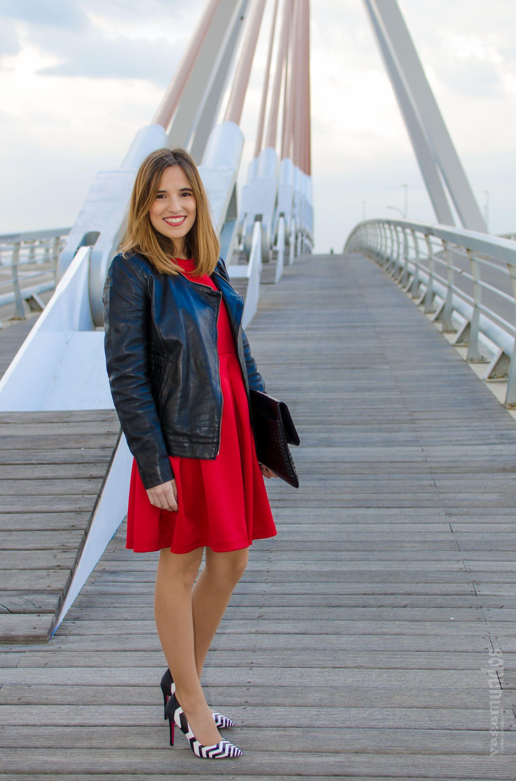 Vestido rojo tacones negro – Vestidos de noche populares foto del ...