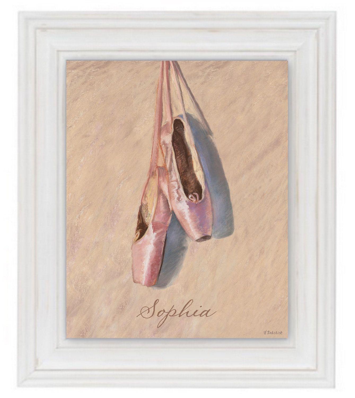 Ballerina Slippers Giclee Art Print 11x14 Ballet Shoes