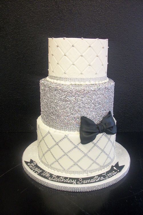 Blinged Out Birthday Cakes By Cakes By Gina Pinterest