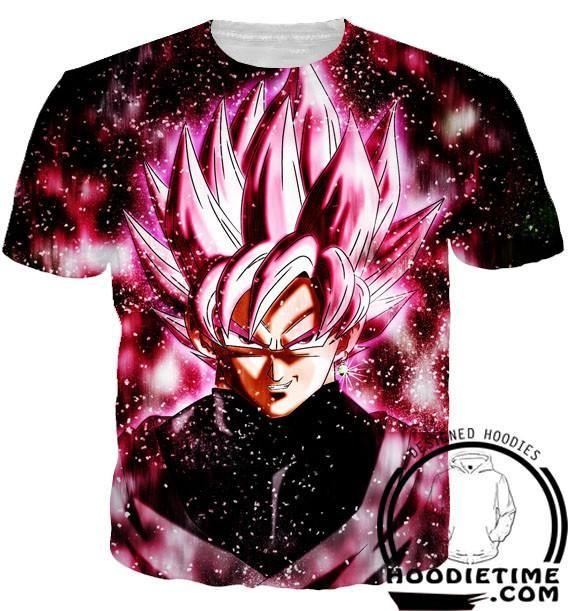 Dragon Ball Z Tank Tops - Super Saiyan Rose Black Goku Gym Shirt - 360 3D  Clothing 5a03845cb216b