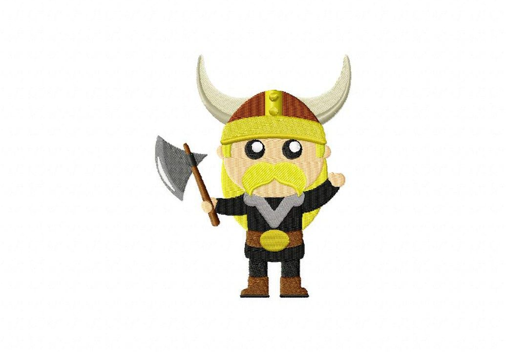 Make a tough as nails project when you stitch out this mighty Viking ...