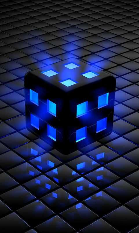 Download Blue cube 480 X 800 Wallpapers - 2531823 | mobile9