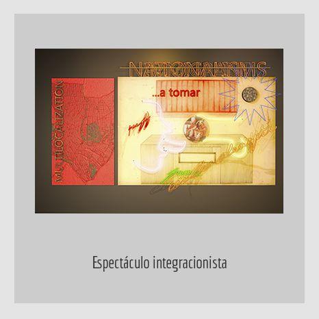 ESPECTACULO INTEGRACIONISTA. YENY CASANUEVA Y ALEJANDRO GONZÁLEZ. PROYECTO PROCESUAL ART.