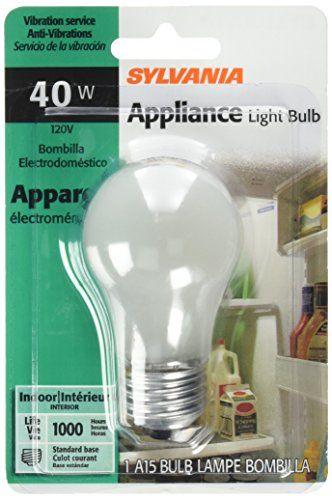 Sylvania Lighting 10117 40wa15 Appliance Bulb Check This