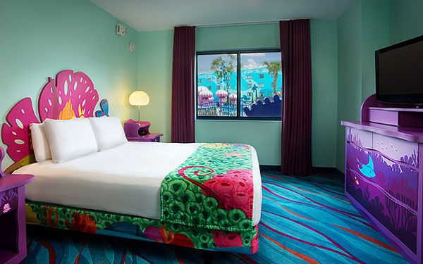 One Of The 'Little Mermaid' Rooms; Courtesy Of Walt Disney