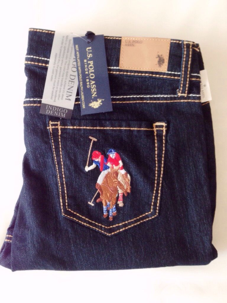 Us Polo Assn Blue Jeans With Pony Accent The Back Right Pocket Size 28 31 Blue Jeans Denim Trousers Polo Assn