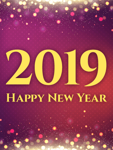 shiny purple happy new year card 2019 if you need an elegant alluring new year card to send this is the card for you varying shades of purple pink