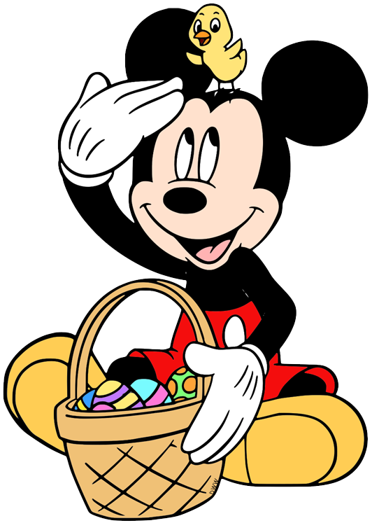 Mickey mouse sitting. Clip art of down