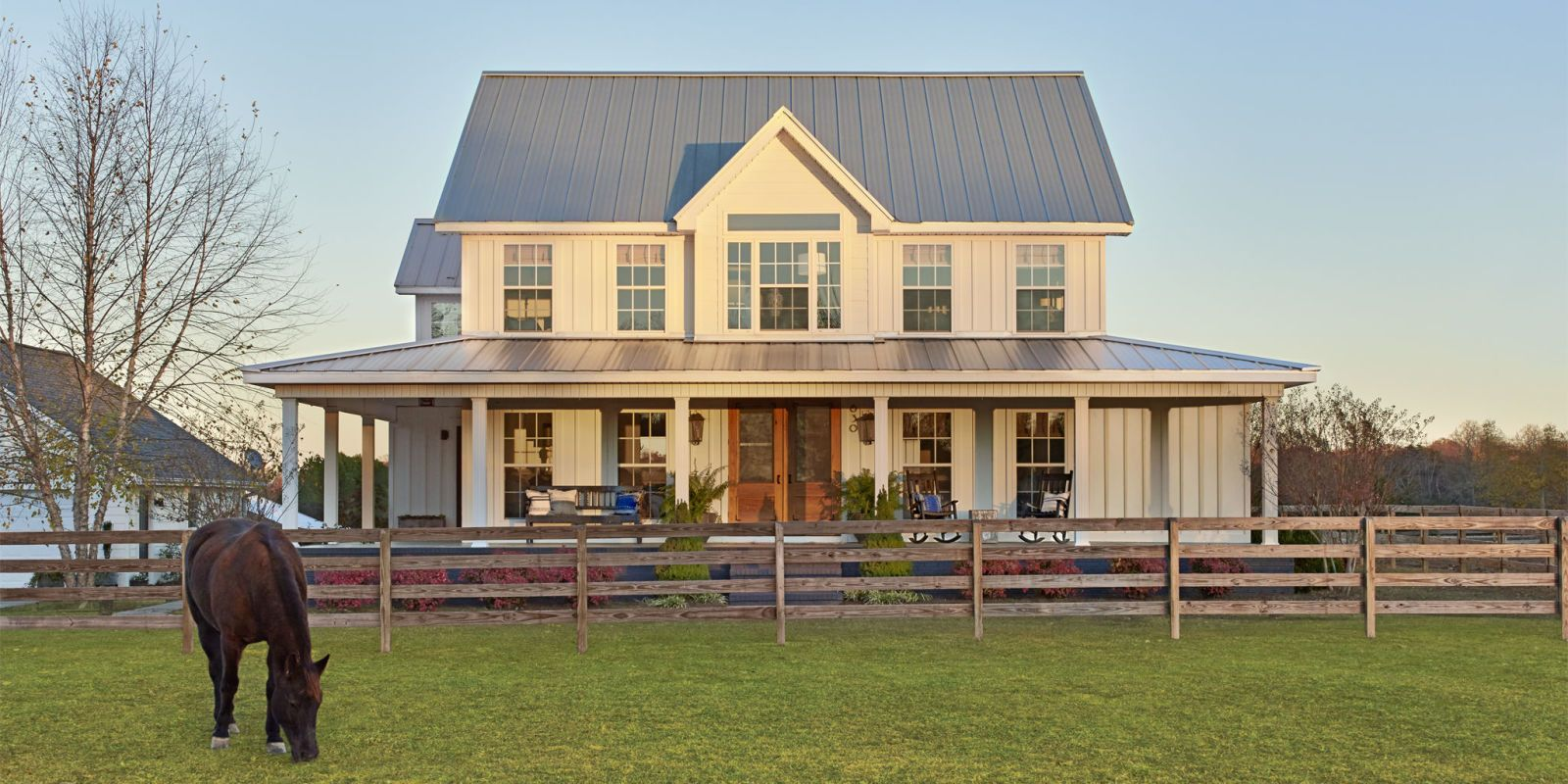 This couple turned a suburban cookie cutter home into a for Country and farmhouse home plans
