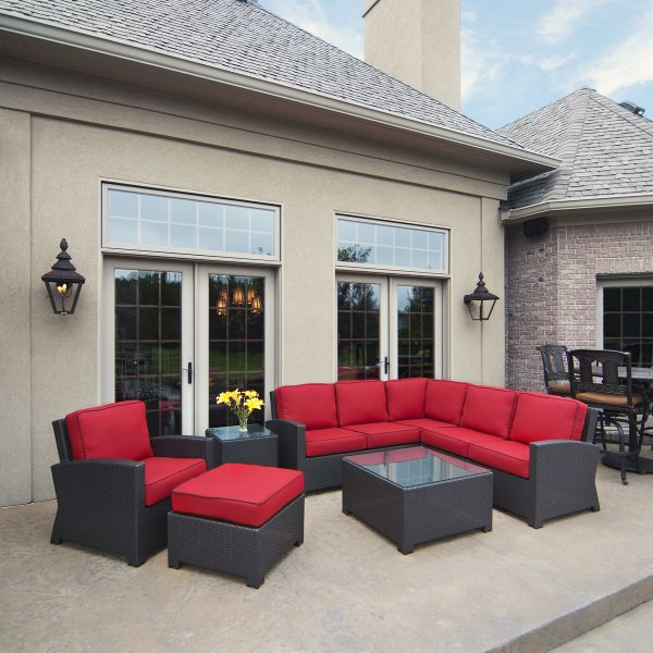 Cabo Patio Furniture.Cabo Wicker Sectional Set By North Cape International Wish In One