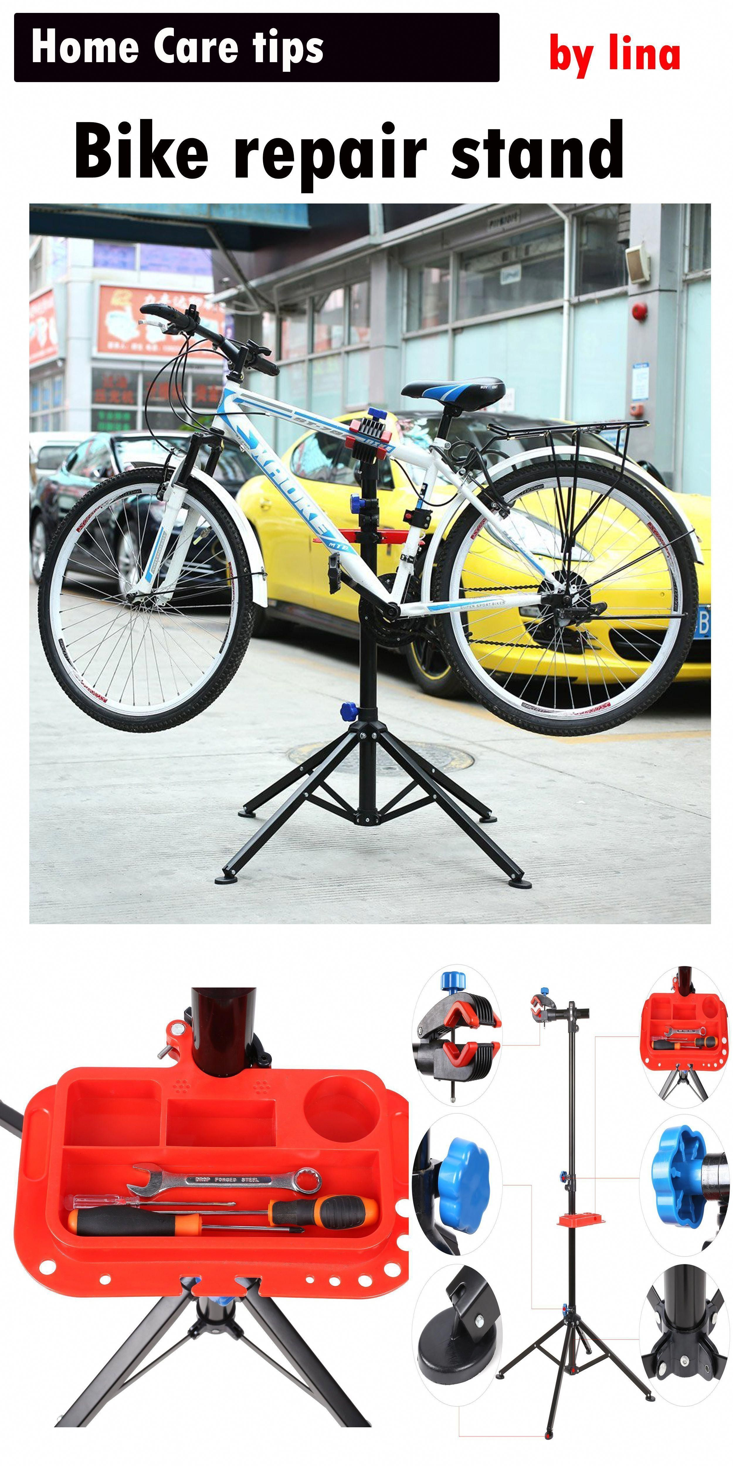 f95dc8e2360 MVPOWER Pro Mechanic Bike Repair Stand Adjustable Height Bicycle  Maintenance Rack Workstand With Tool Tray