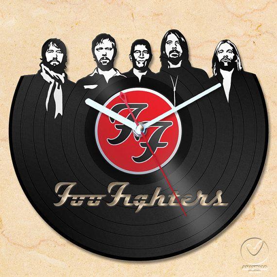 Vinyl Wall Clock Foo Fighters By Anantalo On Etsy Foo