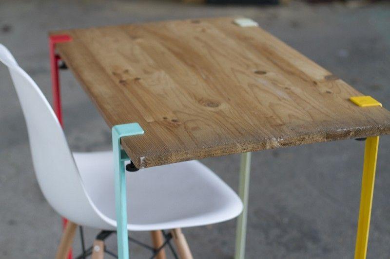 39 idées déco de tréteaux pour créer une table ou un bureau | bureaus