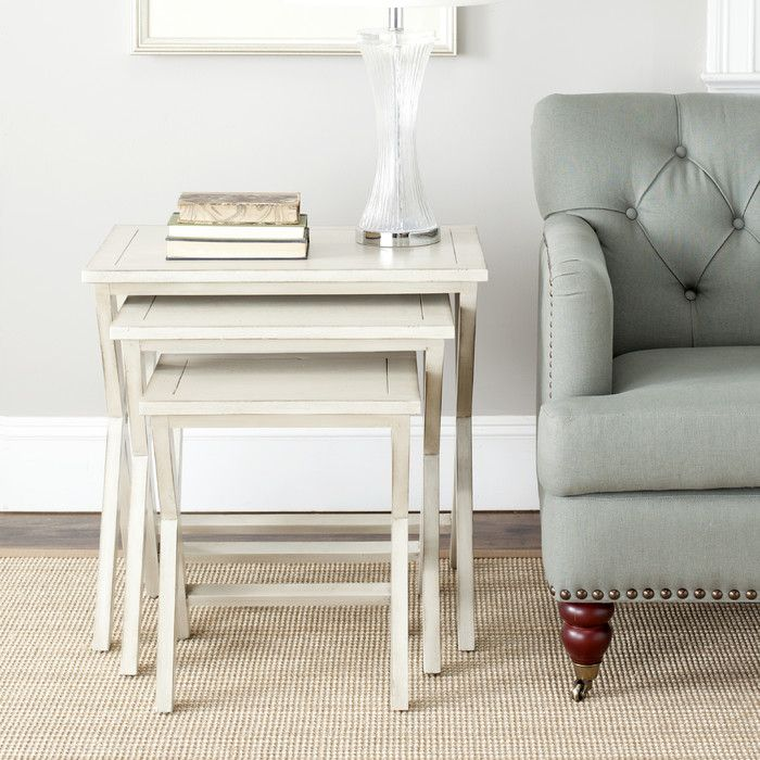 Loon Peak 3 Piece Edgecomb Nesting Table Set | Wayfair