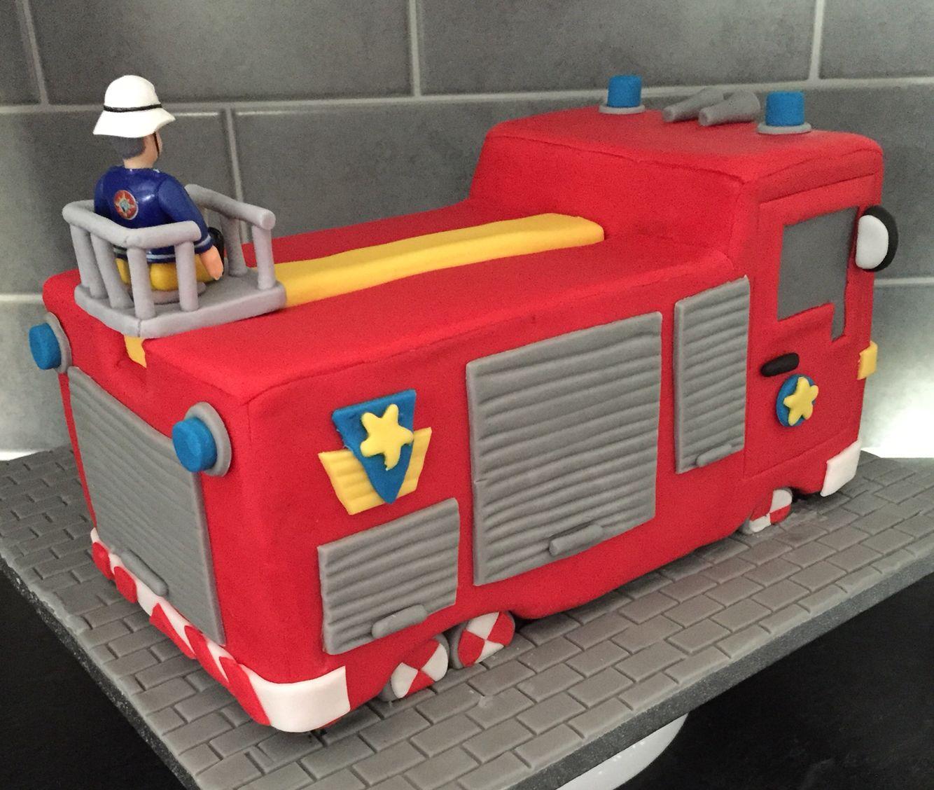 Fireman Sam Jupiter Fire Engine Cake Feuerwehrmann Sam Feuerwehr