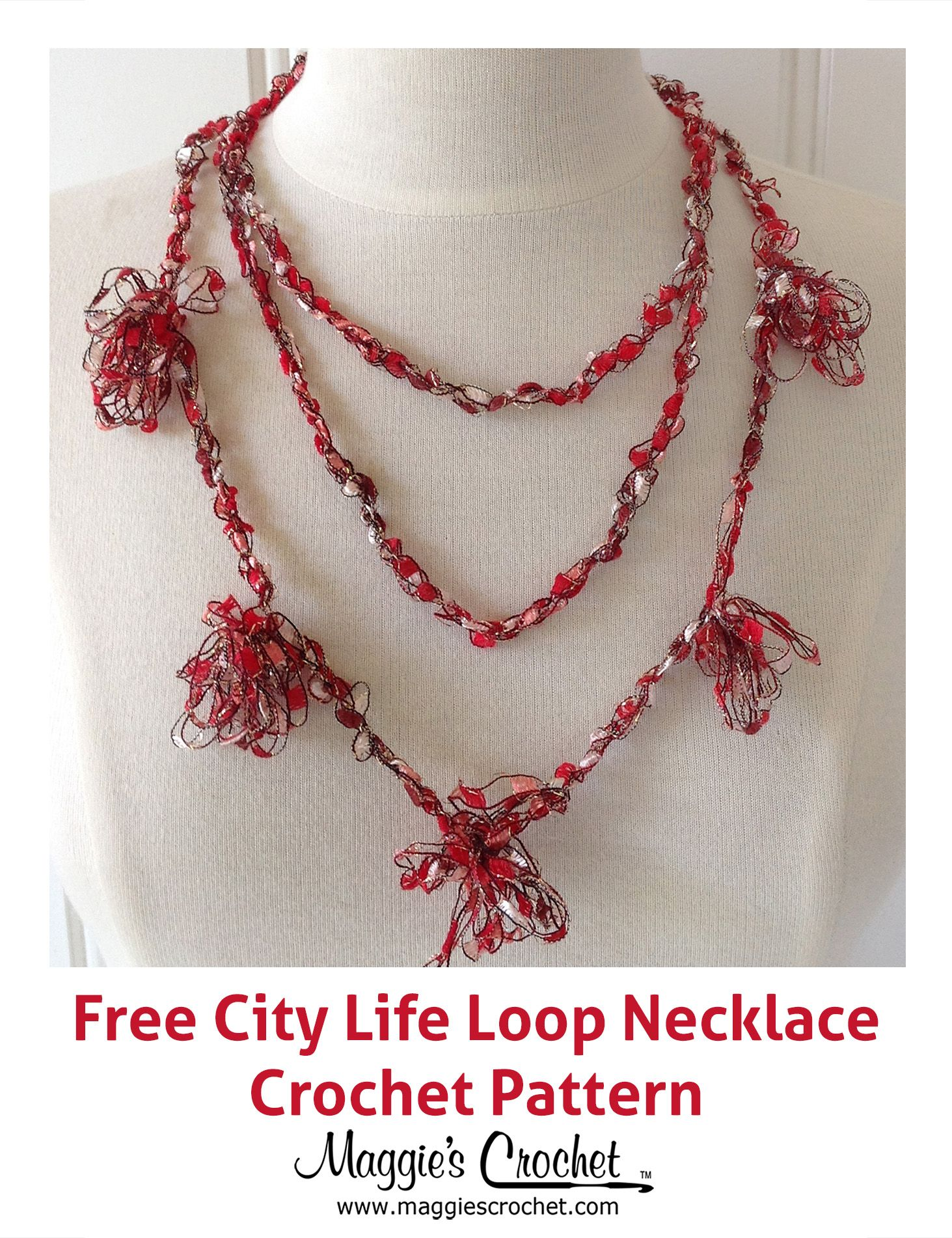 City life loopy necklace free crochet pattern from maggies city life loopy necklace free crochet pattern from maggies crochet bankloansurffo Images