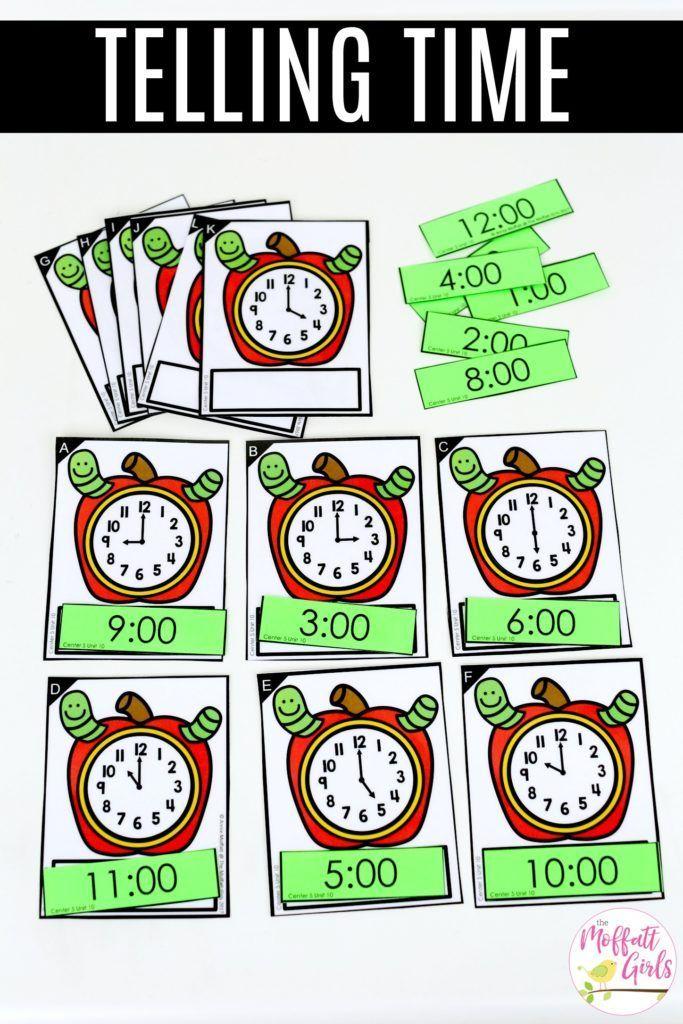 Kindergarten Math: Telling Time to the Hour | New Teachers | Pinterest