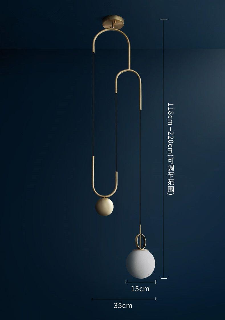 Suspension Luminaire Nordique Moderne Boule De Verre Led