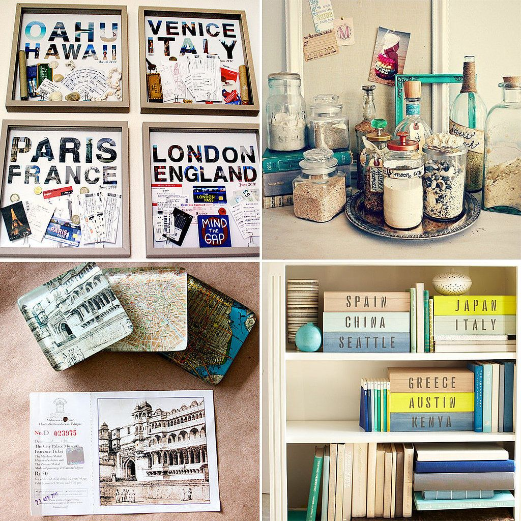 17 Ideas To Organize And Display Travel Mementos With Style Travel Photos Display Travel Keepsakes Travel Souvenirs