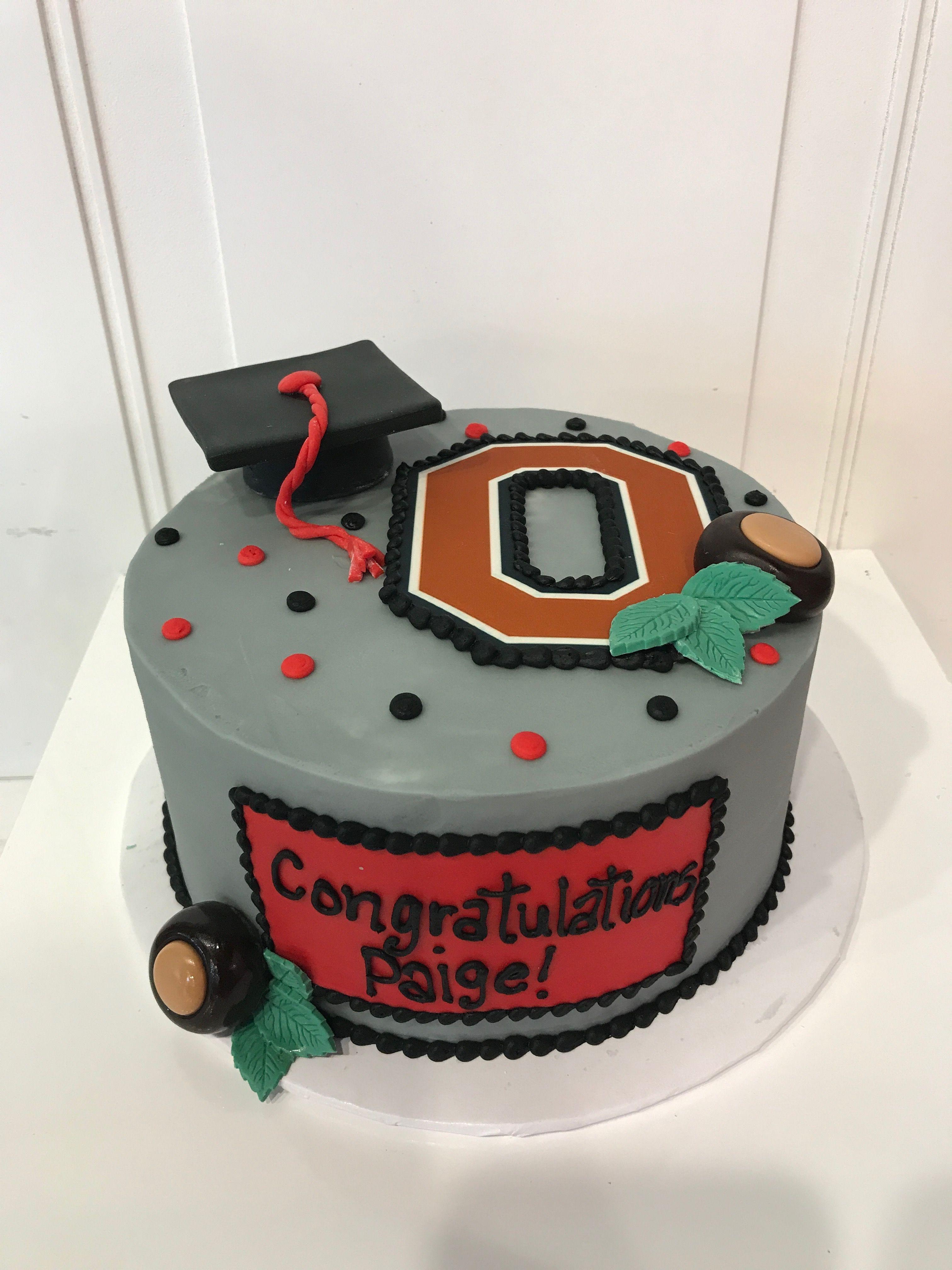 Brilliant Graduation Cakes In Cincinnati Graduation Cakes Ohio State Cake Personalised Birthday Cards Veneteletsinfo